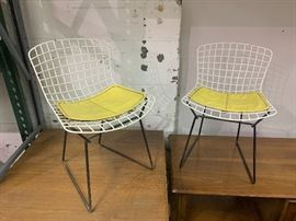 Pair of Knoll Bertoia Children Wire Chairs