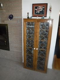STAINED GLASS CABINETS 60. EA. THURS.