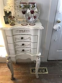 Vintage French Provincial Large Jewelry Chest (More photos to come)