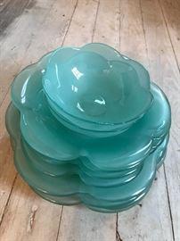Vintage Turquoise Dish Set