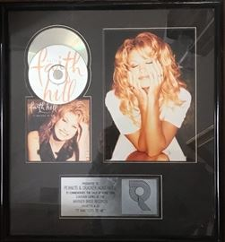 Authentic Framed Faith Hill 'Gold Record'