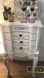 French Provincial Standing Jewelry Chest