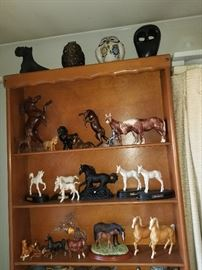 Royal Doulton, Josef Originals and other collectible horse figurines.