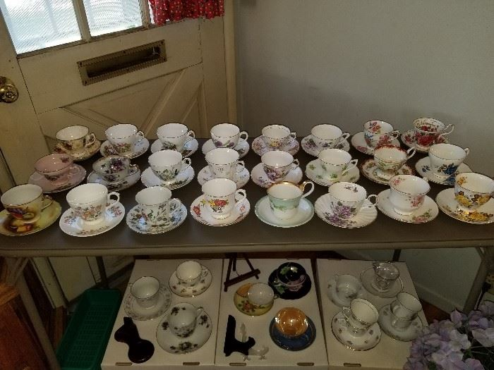 English bone china tea cups and saucers.