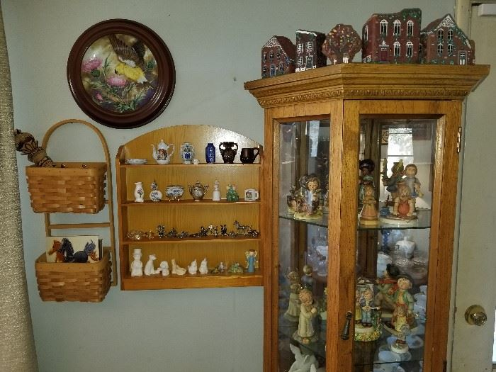 Hummels, pewter and other miniatures,  Brick by Brick houses.