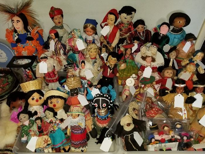 Vintage doll collection, some from the 1930's.