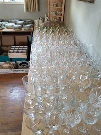 Oh so many wine glasses...