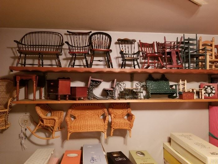 """Doll furniture for small to 18"""" dolls."""