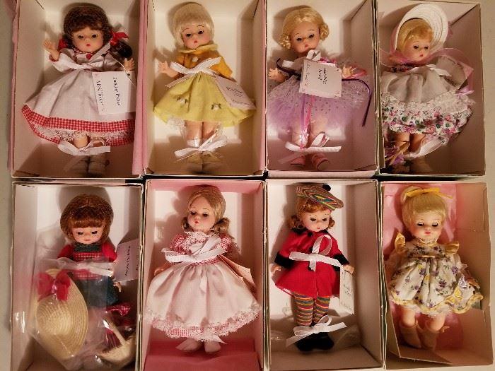 Madame Alexander dolls.