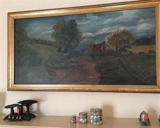 OIL ON CANVAS - SIGNED GLADYS JAMES, EARLY 20TH CENTURY