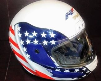 Full Face Motorcycle Helmet Red White and Blue Fl ...