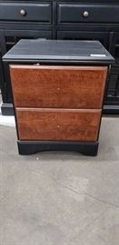 Black and Tan Nightstand