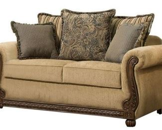 Simmons Upholstery Outback Antique Loveseat MSRP $ ...