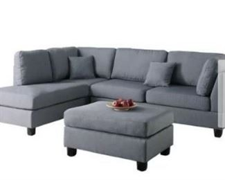 Childress Hemphill Reversible Sectional with Ottom ...
