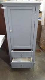 Grey Two Drawer One Door Accent Cabinet