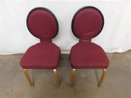 2 Metal Frame with Cloth Seat Dining Height Chairs