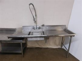 6 Foot Stainless Steel Dirty Side Sink with Spray ...