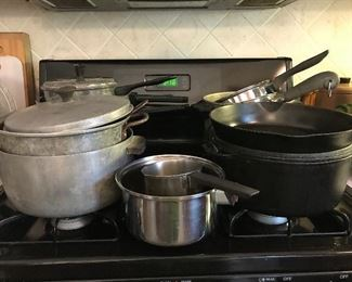 This many pots and pans means one thing....take out!