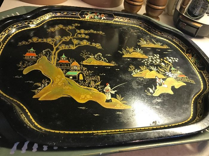 Asian tray...any vignette would be perfect with this in it!