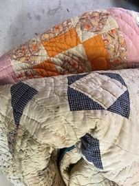 Quilts....hand made with so many memories...