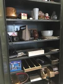 A cabinet filled with treasures..... and the cabinet is for sale too!