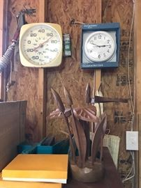 Time and temp... and MCM wood art.