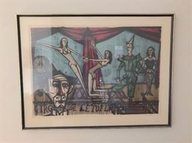 Bernard Buffet signed and numbered litho