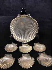 012p Gorham Sterling Shell Plates