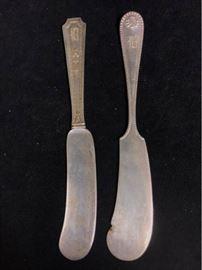 004pSterling Butter Knives