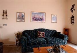Beautiful sofa. Looks New. There is also a wonderful sleeper sofa also for sale in this home.