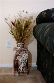 Unusual southwest square vase pottery.