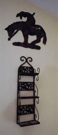 Horse and cowboy southwest wall decor.