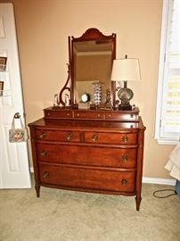Antique Dresser with Glove Box/Mirror