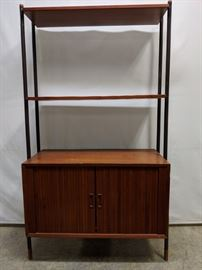 mid century modern  credenza with bookcase top