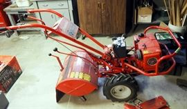 """Troy Built Horse Electric Start Rear Tine Tiller, Kohler Magnum 8 Horse Motor, With Forward And Reverse 18"""" Wide Tines And Furrow Attachment"""