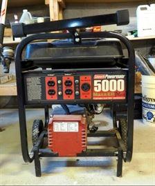 Coleman Powermate Portable 5000 Watt Gas Powered Electric Generator