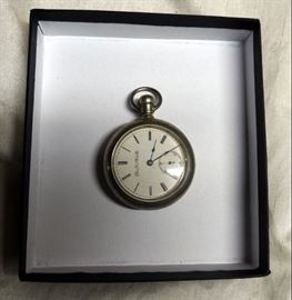 Sterling Silver Elgin National Watch Company Pocket Watch