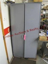 10 - Tennsco metal cabinet (no contents) 36x78x24