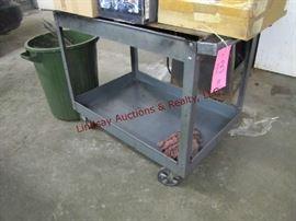 13 - Metal rolling cart (no contents) 24x39.5x32