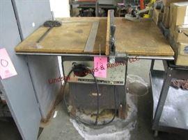 "12 - Craftsman 10"" Bench Saw 40x29.5 top model 113.29940"