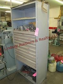 50 - Lyon metal cabinet (NO CONTENTS) 37.5x18.5x82