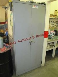 53 - Metal 2 door cabinet (NO CONTENTS) 36x23x78