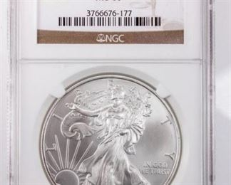 Lot 168 - Coin 2009 American Silver Eagle NGC MS69