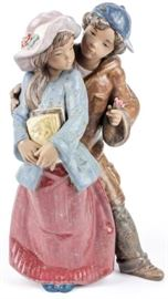 "Lot 1 - Lladro Porcelain Figurine ""After Class"""