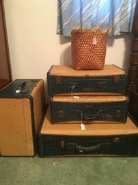 Antique Hartmann Luggage Pieces