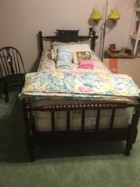 Antique Jenny Lind Style Twin Bed includes mattress and box springs