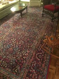 Antique Persian hand tied wool rug, approximately 17' x 9' in excellent condition