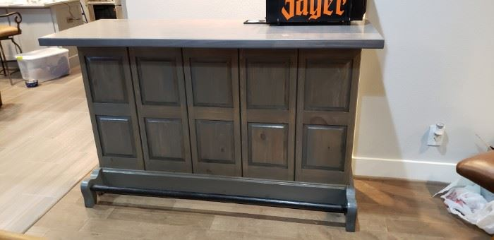 vintage solid wood bar
