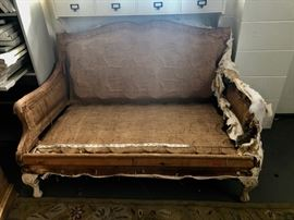 Antique settee 52 x 33 $150