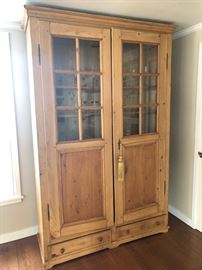 Old glass front cabinet with drawers below. 55 x 88 x 21 $500
